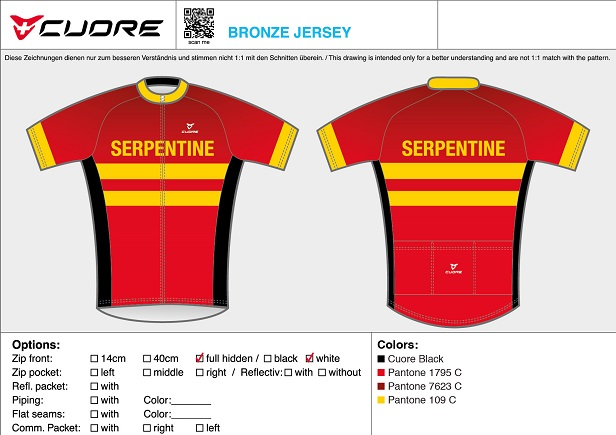 Cuore Serpentine short sleeved cycling top