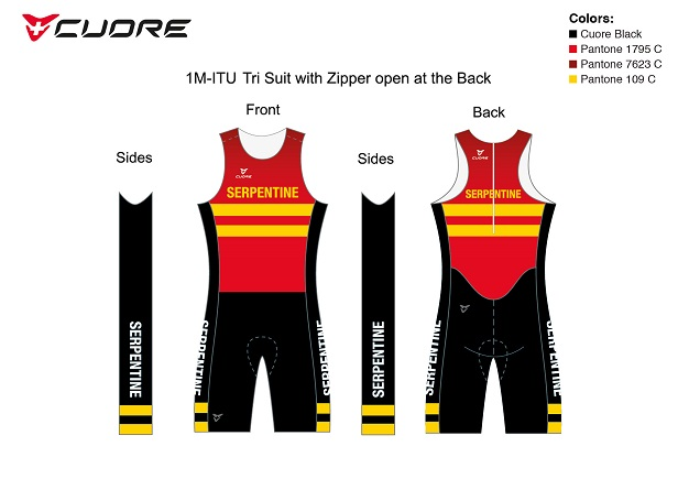 Cuore Serpentine tri suit