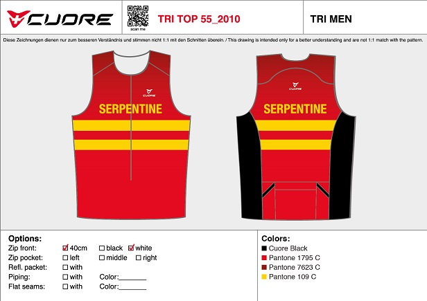 Cuore Serpentine tri top