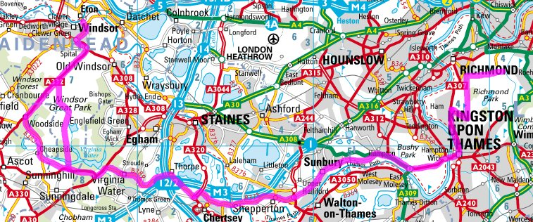 Windsor 89k cycle route map