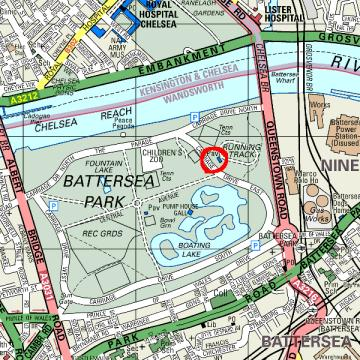 Batersea Park Track location map