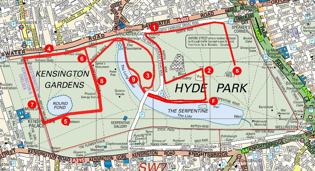 NYD 10k course map