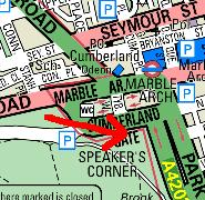 Map of Speakers' Corner