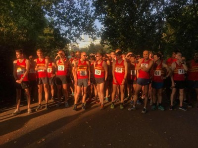 Start of 2018 5k club champs in Battersea Park
