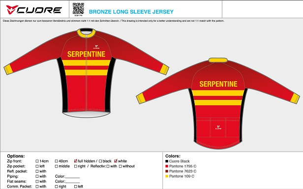 Cuore Serpentine long sleeved cycling top