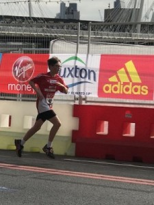 Fintan Delaney in the Virgin Money London Mini Marathon