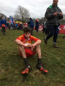 Jonah Kramer after the 2017 Saucony English National XC Championships in Nottingham. It's back in London again this year – no excuses for not participating!