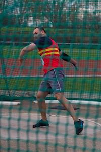 Adam in SAL discus competition