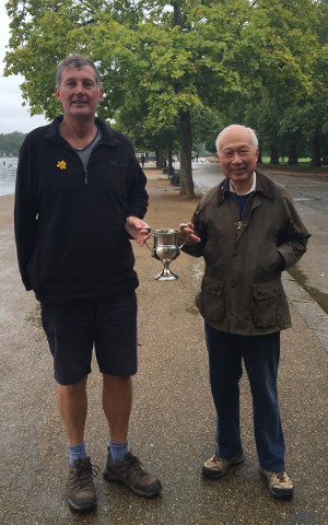James Stratford and Ken Kwok with the new trophy