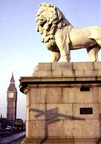 Coade Lion Westminster