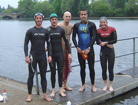Serpie swimmers at Serpentine Lido