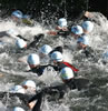 Swim start at London tri