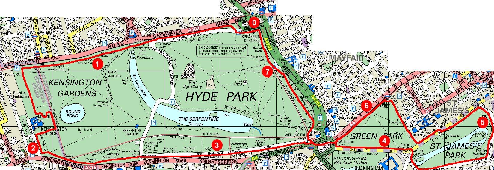 Serpentine Running Club Running Three Parks Day