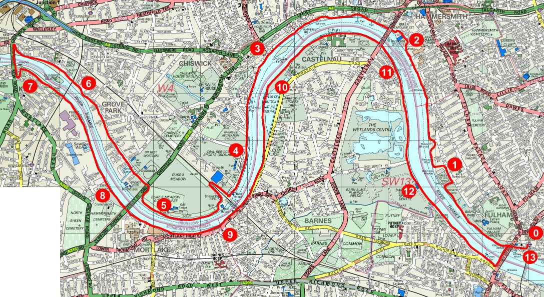 The Boat Race Route