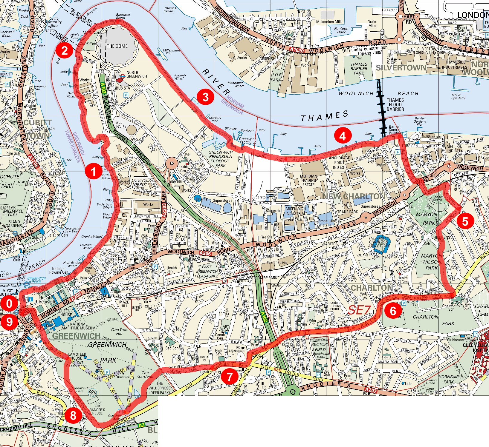Serpentine running club running greenwich riverside large scale map publicscrutiny Image collections