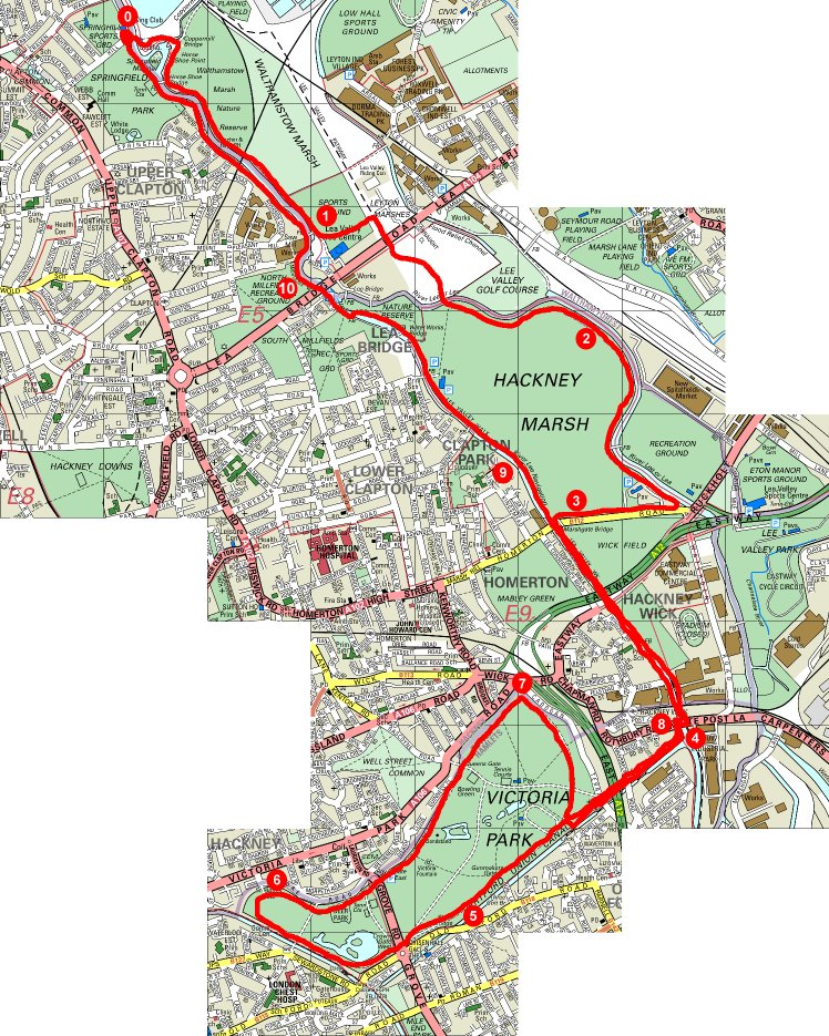 Lea Valley map