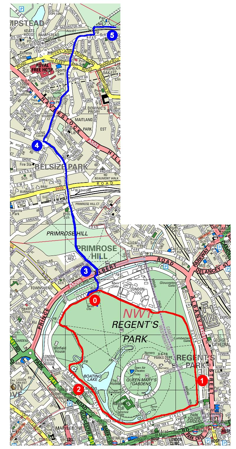 RegentsPark_l Map A Running Route on map a path, map a run, map a drive, map a process, map a distance, map a cut, map a course,